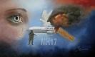 Illustratie van de vlucht MH17