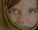 Meisje met groene ogen