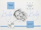 tekening van pasgeboren baby gerelateerd aan geboortekaartje